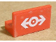Part No: 4865pb017  Name: Panel 1 x 2 x 1 with Train Logo White Pattern (Sticker)