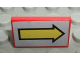 Part No: 4865pb022  Name: Panel 1 x 2 x 1 with Yellow Arrow Right on Light Gray Background Pattern (Sticker) - Set 8856