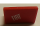 Part No: 4865pb067R  Name: Panel 1 x 2 x 1 with White 'FIAT' on Red Background Pattern Model Right Side (Sticker) - Set 8142