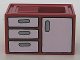 Part No: 4906pb02  Name: Duplo Furniture Sink with Front Cabinet and Drawers Pattern