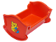 Part No: 4908pb01  Name: Duplo Furniture Crib / Cradle with Teddy Bear and Ball Pattern