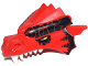 Part No: 50108pb03  Name: Dragon Head (Castle) Upper Jaw with Large Black Scales and Yellow Eyes Pattern