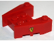 Part No: 50373pb04  Name: Wedge, Brick 3 x 4 with Stud Notches with Ferrari Logo Narrow Pattern on Both Sides (Stickers)