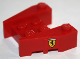 Part No: 50373pb05  Name: Wedge, Brick 3 x 4 with Stud Notches with Ferrari Logo Wide Pattern on Both Sides (Stickers)