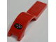 Part No: 50947pb007R  Name: Vehicle, Mudguard 1 x 4 1/2 with Red and White Light Pattern Right Side (Sticker) - Set 8124