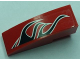 Part No: 50950pb014R  Name: Slope, Curved 3 x 1 No Studs with Black Togokahn Pattern, Model Front Right (Sticker) - Set 8159