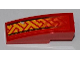 Part No: 50950pb041L  Name: Slope, Curved 3 x 1 No Studs with Fade Geometric Pattern Model Left Side (Sticker) - Set 8227