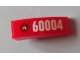 Part No: 50950pb057L  Name: Slope, Curved 3 x 1 No Studs with Black and Yellow Fire Logo Badge and '60004' Pattern Model Left Side (Sticker) - Set 60004