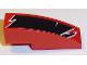 Part No: 50950pb097L  Name: Slope, Curved 3 x 1 No Studs with Black Togokahn Pattern, Model Middle Left (Sticker) - Set 8159