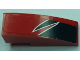 Part No: 50950pb097R  Name: Slope, Curved 3 x 1 No Studs with Black Togokahn Pattern, Model Middle Right (Sticker) - Set 8159