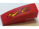 Part No: 50950pb107R  Name: Slope, Curved 3 x 1 No Studs with Flames on Red Background Pattern Model Right Side (Sticker) - Set 60027