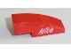Part No: 50950pb110R  Name: Slope, Curved 3 x 1 No Studs with White 'Alice' on Red Background Pattern Model Right Side (Sticker) - Set 8142-2