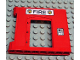 Part No: 51261pb01  Name: Duplo Building Wall 1 x 8 x 6 with Door Opening and Fire Logo Pattern