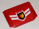 Part No: 52031pb003  Name: Wedge 4 x 6 x 2/3 Triple Curved with Fire Logo Badge and 2 White Chevrons Pattern (Sticker)