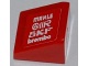 Part No: 54200pb038R  Name: Slope 30 1 x 1 x 2/3 with 'MAHLE', 'OMR', 'SKF' and 'brembo' Pattern Model Right Side (Sticker) - Set 8123