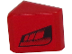 Part No: 54200pb067L  Name: Slope 30 1 x 1 x 2/3 with Black Faded Air Vents on Red Background Pattern Model Left Side (Sticker) - Set 8147