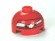 Part No: 553pb013  Name: Brick, Round 2 x 2 Dome Top with Eyes Squinting and F1 Helmet Pattern (Francesco)