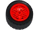 Part No: 56145c01  Name: Wheel 30.4mm D. x 20mm with No Pin Holes and Reinforced Rim with Black Tire 43.2 x 22 ZR (56145 / 44309)