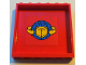 Part No: 59349pb018  Name: Panel 1 x 6 x 5 with Box and Arrows and Globe Pattern on Red Background Pattern (Sticker)