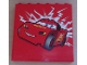 Part No: 59349pb022  Name: Panel 1 x 6 x 5 with Lightning McQueen Facing Left Pattern (Sticker) - Set 8486