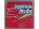 Part No: 59349pb023  Name: Panel 1 x 6 x 5 with 'Lightning McQu' Pattern (Sticker) - Set 8486