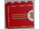 Part No: 60581pb029L  Name: Panel 1 x 4 x 3 with Side Supports - Hollow Studs with 'HOGWARTS' and Half Hogwarts Logo Pattern (Sticker) - Set 4841