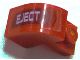 Part No: 6091pb001R  Name: Brick, Modified 1 x 2 x 1 1/3 with Curved Top with 'EJECT' right Pattern (Sticker) - Set 7701