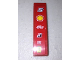 Part No: 61678pb001  Name: Slope, Curved 4 x 1 No Studs with Number 5 and Shell, Alice, Bridgestone, Fiat and Ferrari Logos Pattern (Sticker)