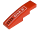 Part No: 61678pb013L  Name: Slope, Curved 4 x 1 No Studs with '8-060' and Vents Pattern Model Left (Sticker) - Set 8060