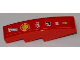 Part No: 61678pb022  Name: Slope, Curved 4 x 1 No Studs with Number 1, Shell, Alice, Bridgestone, Fiat and Ferrari Logos Pattern (Sticker) - Set 8123