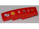 Part No: 61678pb023  Name: Slope, Curved 4 x 1 No Studs with Number 2, Shell, Alice, Bridgestone, Fiat and Ferrari Logos Pattern (Sticker) - Set 8123