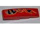 Part No: 61678pb028L  Name: Slope, Curved 4 x 1 No Studs with Claws and Black Flames Pattern Model Left Side (Sticker) - Set 8227