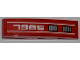 Part No: 61678pb039R  Name: Slope, Curved 4 x 1 No Studs with White '7985' and Double Grille Pattern Model Right (Sticker) - Set 7985