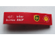 Part No: 61678pb098R  Name: Slope, Curved 4 x 1 No Studs with 'MAGNETI MARELLI', 'brembo', 'infor', 'SKF' and ups and Shell Logos Pattern Model Right Side (Sticker) - Set 75913
