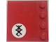 Part No: 6179pb160R  Name: Tile, Modified 4 x 4 with Studs on Edge with Black Symbol in White Circle on Red Background Pattern Model Right Side (Sticker) - Set 70615