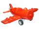 Part No: 62681cx1  Name: Duplo Airplane Small with Rear Cargo Bay, Light Bluish Gray Wheels Assembly