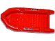 Part No: 62812pb06  Name: Boat, Rubber Raft, Large with 2 Patches and Stitches Pattern on Both Sides (Stickers) - Set 60068