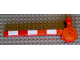 Part No: 6406apb01  Name: Duplo, Train Crossing Gate Crossbar with Large Handle with White Stripes Pattern
