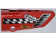Part No: 64391pb005  Name: Technic, Panel Fairing # 4 Small Smooth Long, Side B with Air Intake, Checkered Stripe and Sponsor Logos Pattern (Sticker) - Set 42011