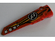 Part No: 64393pb010  Name: Technic, Panel Fairing # 6 Long Smooth, Side B with Orange and Yellow Flames, '13' and 'BOX V8' Pattern (Sticker) - Set 8864