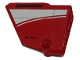 Part No: 64394pb006  Name: Technic, Panel Fairing #13 Large Short Smooth, Side A with White Curved Stripe Pattern (Sticker) - Set 9394