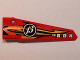 Part No: 64681pb010  Name: Technic, Panel Fairing # 5 Long Smooth, Side A with Orange and Yellow Flames, '13' and 'V8 BOX' Pattern (Sticker) - Set 8864