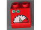 Part No: 6474pb16  Name: Duplo, Brick 2 x 2 Slope 45 with Two Green Buttons and Meter Pattern