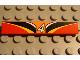 Part No: 6636pb003  Name: Tile 1 x 6 with '4', Orange, White, Black, Yellow, Red Pattern (Sticker) - Set 8380