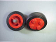 Part No: 7039c01  Name: Wheel Old with 4 Studs, with Black Tire Smooth Old Style - Small (7039 / 132-old)