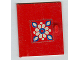 Part No: 838pb02  Name: Homemaker Cupboard Door 4 x 4 with White and Blue Flower Pattern (Sticker) - Set 294