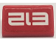 Part No: 85984pb221  Name: Slope 30 1 x 2 x 2/3 with White 'E12' on Red Background Pattern (Sticker) - Set 70615