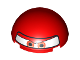 Part No: 86500pb02  Name: Cylinder Hemisphere 4 x 4 with Eyes and F1 Helmet Pattern (Francesco)