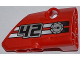 Part No: 87086pb007  Name: Technic, Panel Fairing # 2 Small Smooth Short, Side B with '42', Filler Cap and 2 Black to White Fade Stripes Pattern (Sticker) - Set 42011