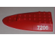 Part No: 87615pb01  Name: Aircraft Fuselage Curved Aft Section 6 x 10 Top with '7206' Pattern on Both Sides (Stickers) - Set 7206